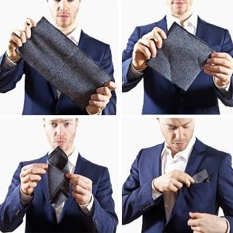 Jas Pria Pocket Square Atau Sapu Tangan Jas Pocket Square di sebut juga Sapu Tangan Jas Adalah aksesoris tambahan yang di kenakan pada Saku Dada Jas dan Blazer yang berfungsi untuk memperindah pakaian